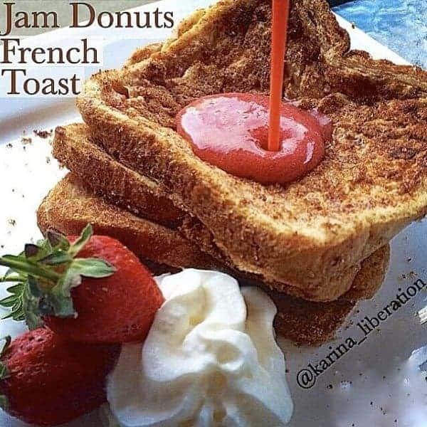 Jam Donuts French Toast - Cafe Delites cafedelites