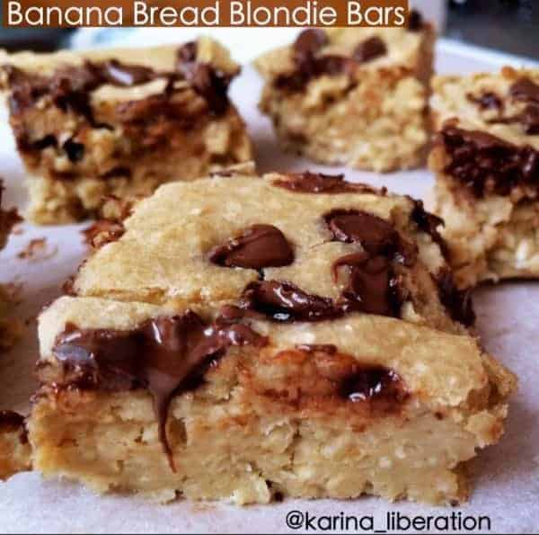 Banana Blondies - Cafe Delites cafedelites banana bread blondies