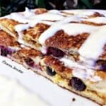 Blueberry Cinnamon Scroll French Toast!