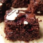 Cherry Mocha Almond Brownies