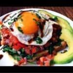 Fried Egg Bruschetta with Avocado