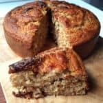 Wholemeal Honey Banana Date Cake