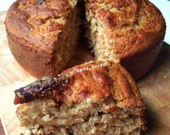 Wholemeal Honey Banana Date Cake
