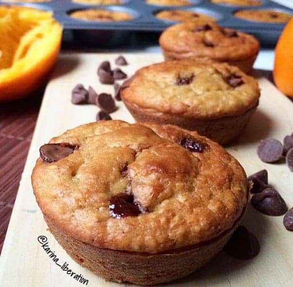 Healthy Jaffa (Chocolate Orange) Oat Muffins