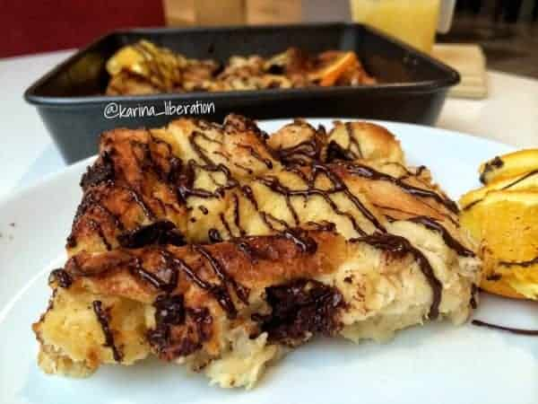 Baked Orange-Hazelnut & Chocolate Chunk French Toast