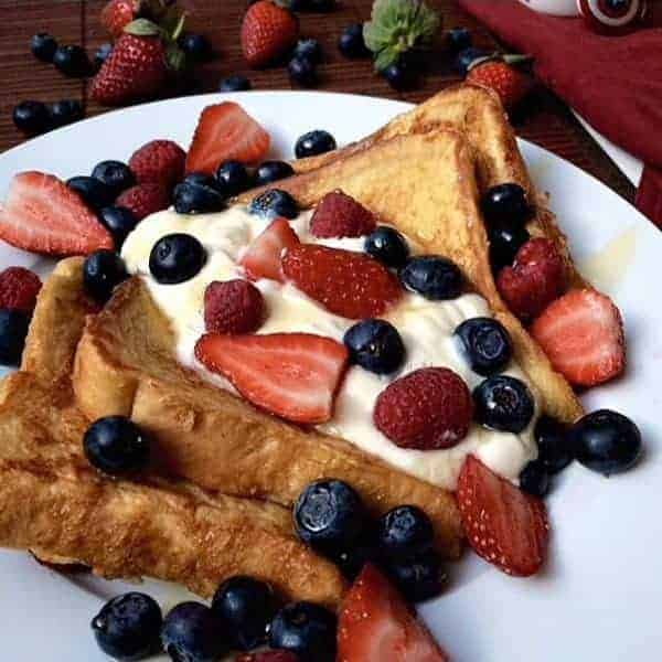 Mixed Berry Cheesecake French Toast