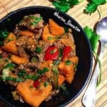 Warm Beef & Sweet Potato Casserole