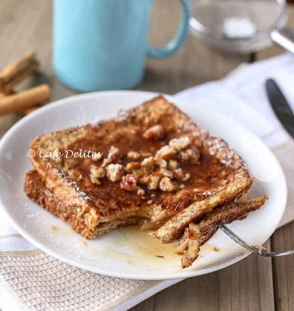 Gingerbread French Toast- Cafe Delites cafedelites