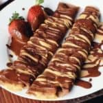 Chocolate Peanut Butter Cup Crepes