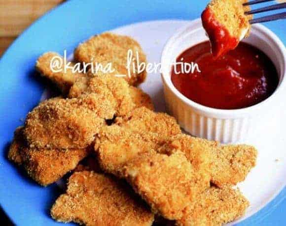 Garlic and Paprika Oven Baked Chicken Nuggets