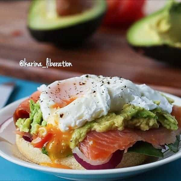 Smoked Salmon & Poached Egg English Muffin