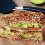 Smoked Salmon & Avocado Grilled Cheese Stack