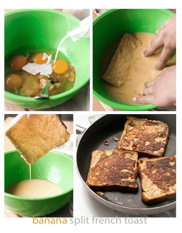 Banana Split French Toast Collage - Cafe Delites
