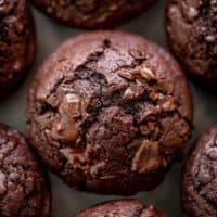 Double Chocolate Chunk Muffins | cafedelites.com