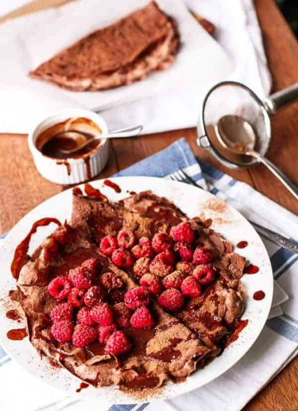 Chocolate Covered Raspberry Crepes - Cafe Delites