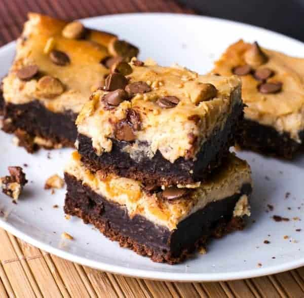 Chocolate Peanut Butter Cheesecake Brownies - Cafe Delites cafedelites