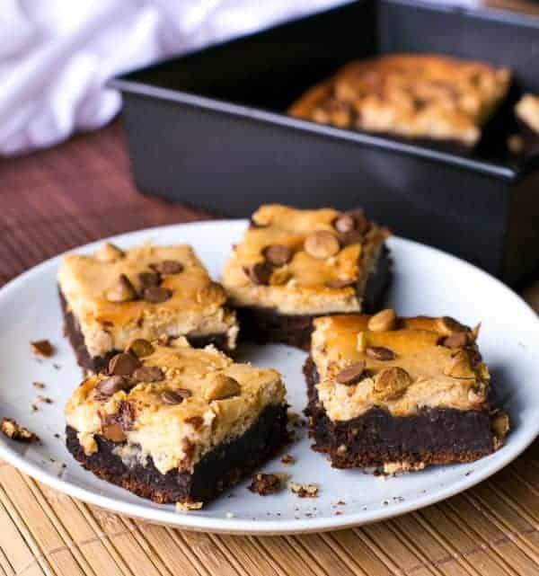 Chocolate Peanut Butter Cheesecake Brownies - Cafe Delites