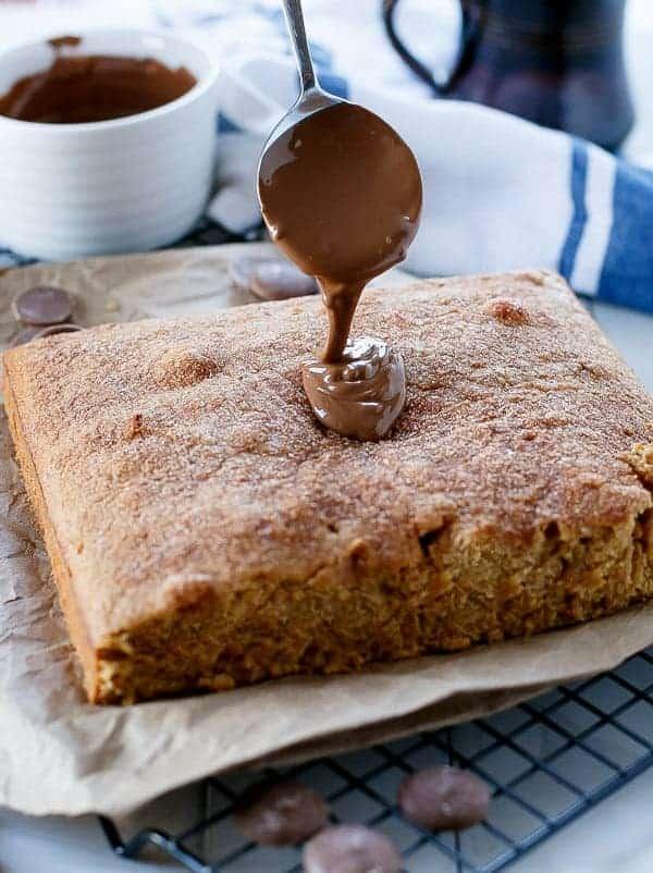 Churro Cake on https://cafedelites.com