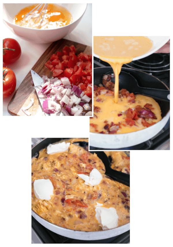 Cream Cheese Scrambled Eggs Collage - Cafe Delites