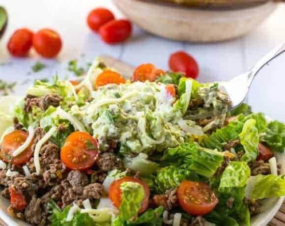 Taco Salad - Cafe Delites cafedelites.com