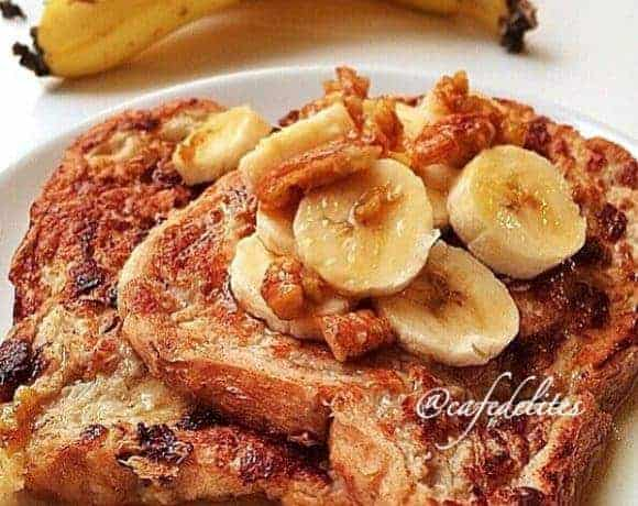 Banana Bread French Toast - Cafe Delites cafedelites