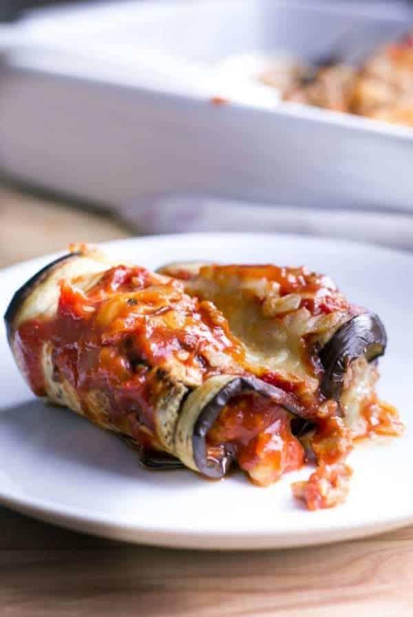 Cheesy Turkey Eggplant Cannelloni - Cafe Delites