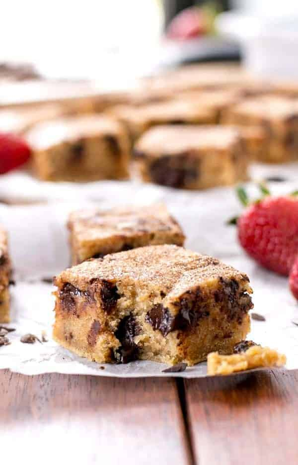 Churro Chocolate Chunk Blondies