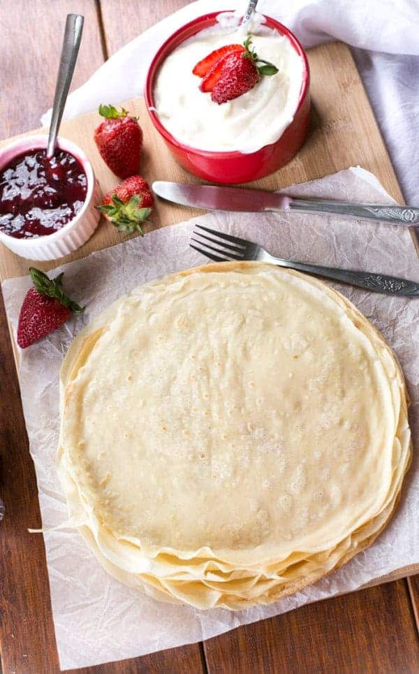 Strawberry Cheesecake Crepes - Cafe Delites