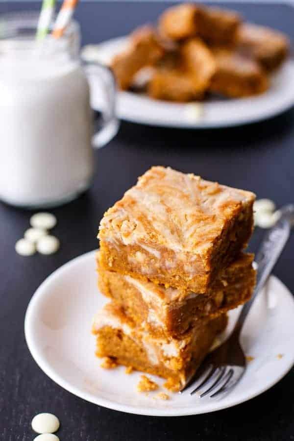 Cinnamon Cheesecake Swirl Pumpkin Cake Slice-1