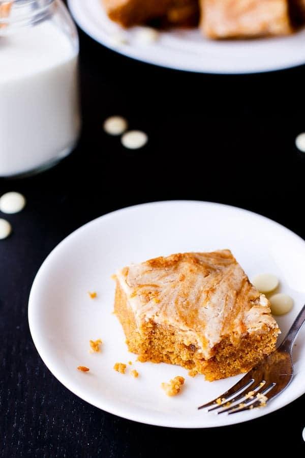 Cinnamon Cheesecake Swirl Pumpkin Cake Slice-21