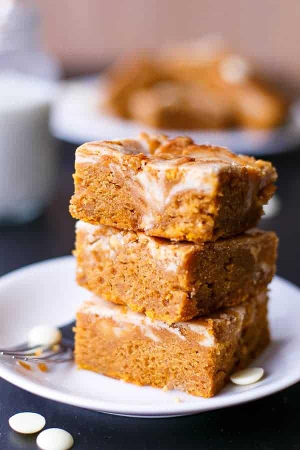 Cinnamon Cheesecake Swirl Pumpkin Cake Slice