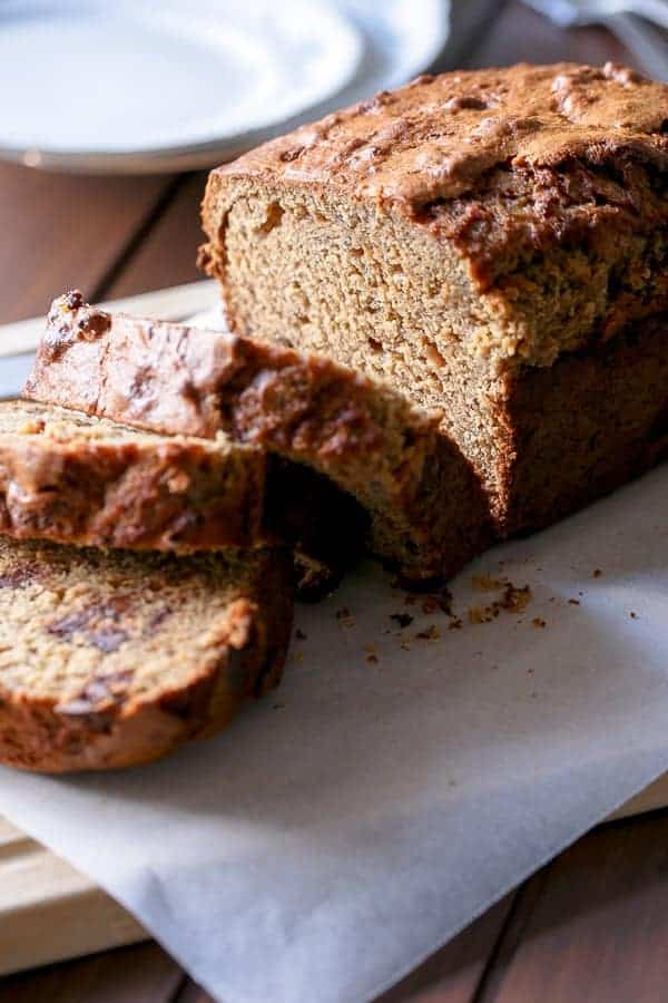 Peanut Butter Chocolate Chip Banana Bread - Cafe Delites