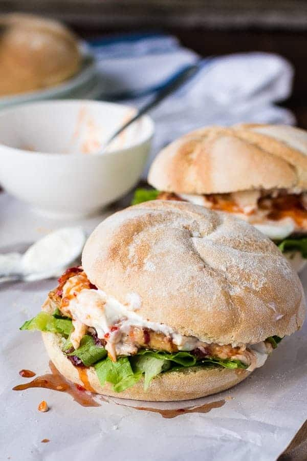 Sweet Chilli Chicken Burgers - Cafe Delites-48