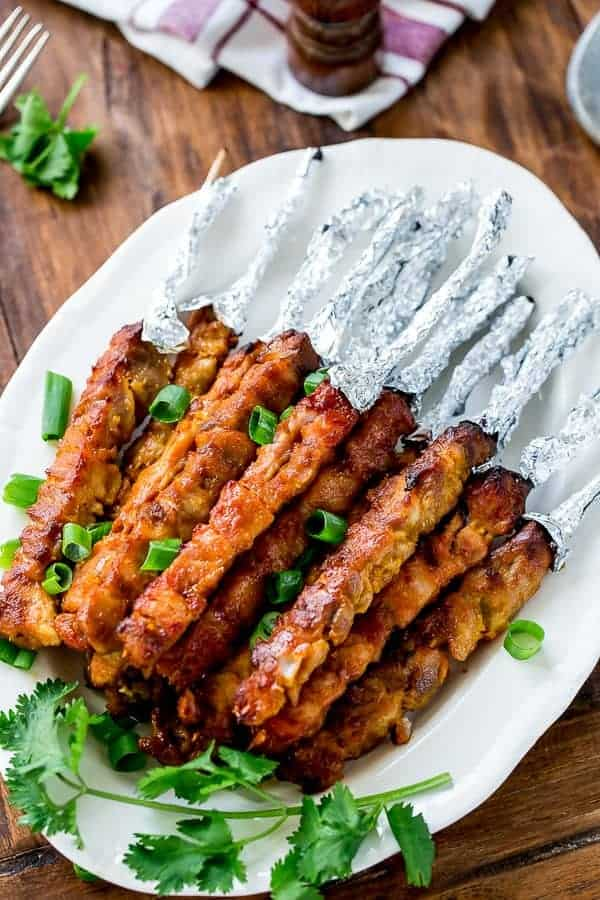 Skinny Satay Turkey Skewers https://cafedelites.com