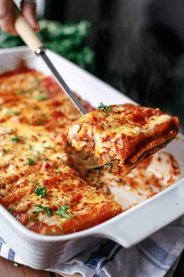 Turkey, Sweet Potato and Kale Cannelloni - Cafe Delites