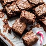 Candy Cane Fudge Brownies