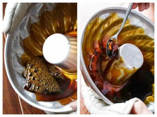 Orange Creme Caramel with Toffee Shards | https://cafedelites.com