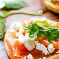 Smoked Salmon and Goats Cheese https://cafedelites.com