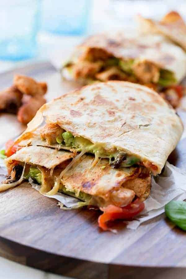 Barbecue Chicken Pizzadilla (Pizza Quesadilla)