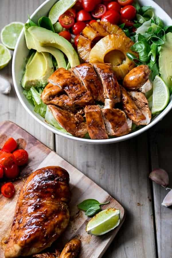 Fathers Day Recipes - Lime & Garlic BBQ Chicken Salad | Homemade Recipes http://homemaderecipes.com/bbq-grill/20-homemade-fathers-day-recipes
