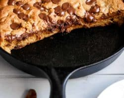 Nutella Skillet Cookie | cafedelites.com