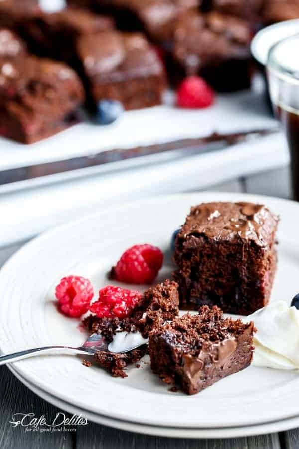 Mixed Berry Nutella Brownies | https://cafedelites.com