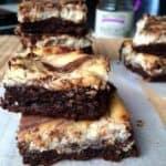 Healthy Nutella Cheesecake Brownies