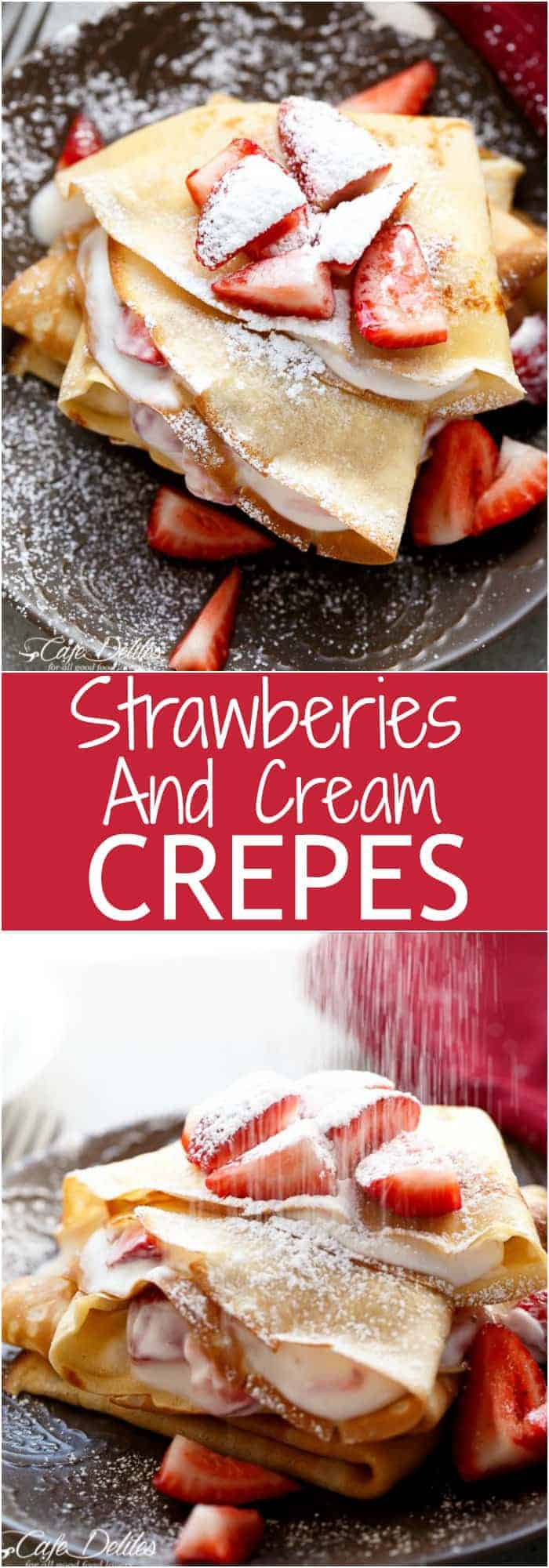 Strawberries and Cream Crepes Collage | http://cafedelites.com
