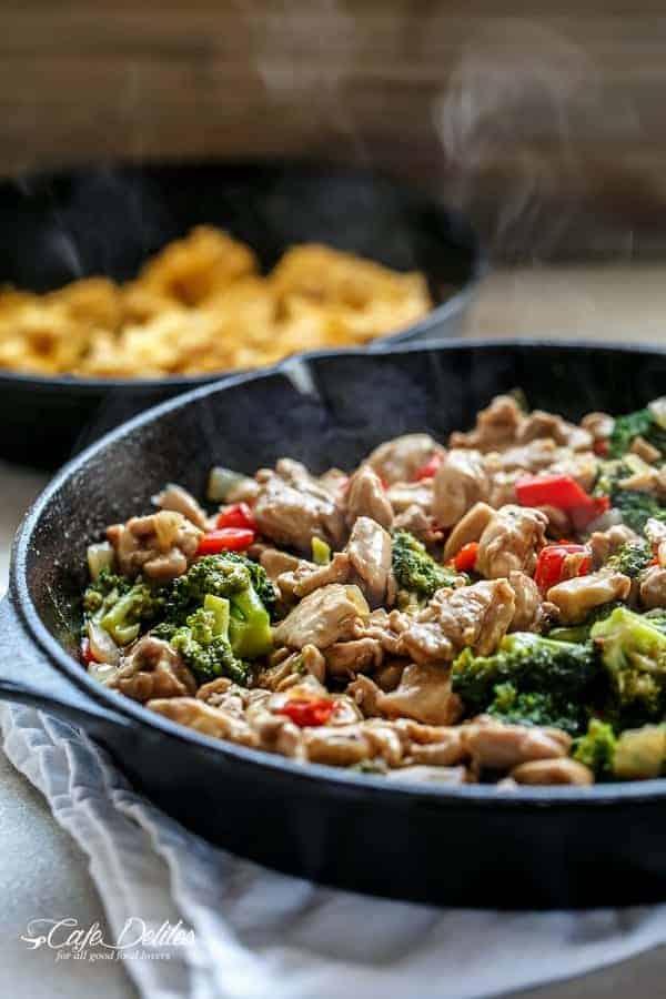 Simple Hoisin Chicken and Broccoli Stir-Fry | https://cafedelites.com