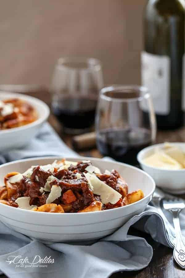 Fiery Lamb Ragu on Parpadelle