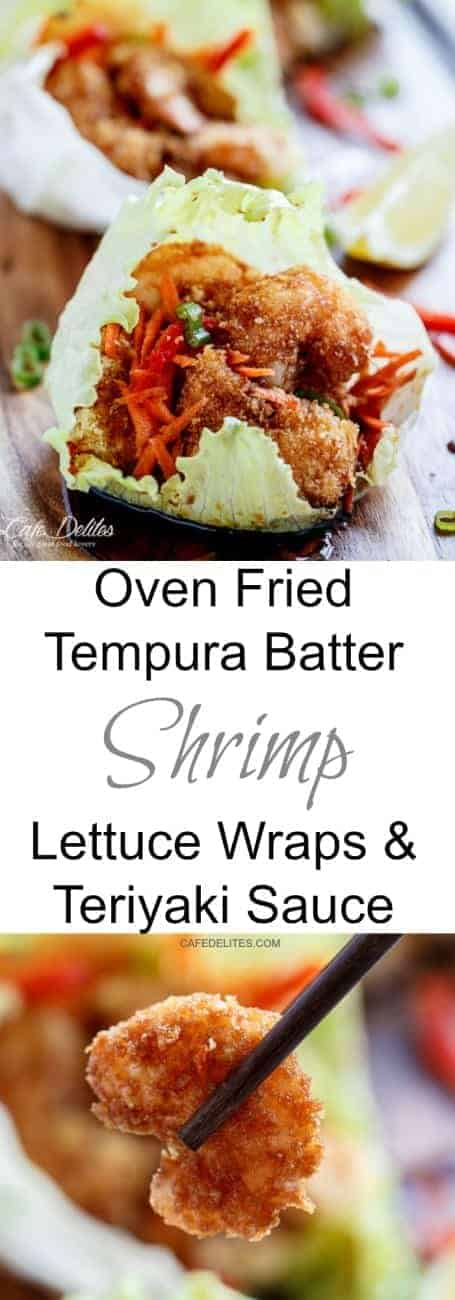Oven Fried Teriyaki Tempura Shrimp cafedelites-66