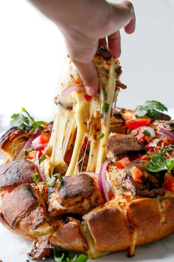 Carne Asada Chipoltle Pull Apart Bread and Cheese-7