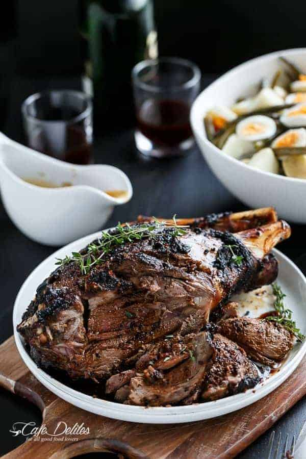 Sundried Tomato and Garlic Roast Lamb