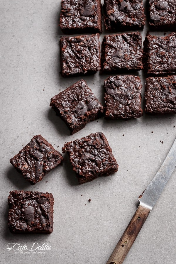 Low Carb Zucchini Brownies | https://cafedelites.com